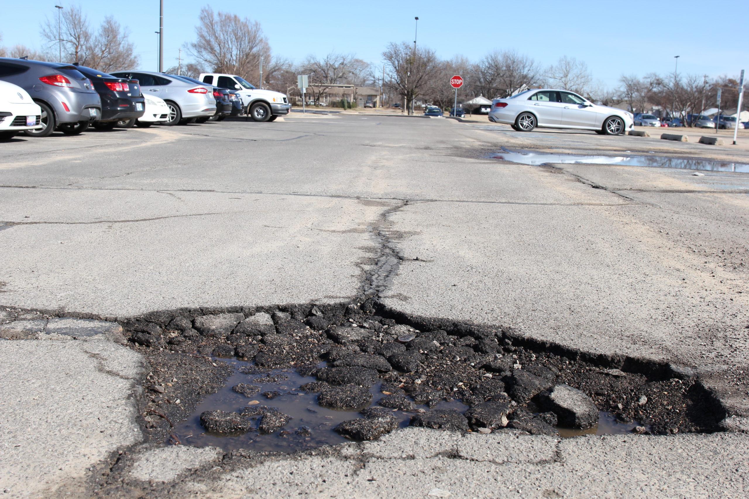 Large Potholes Concern Students