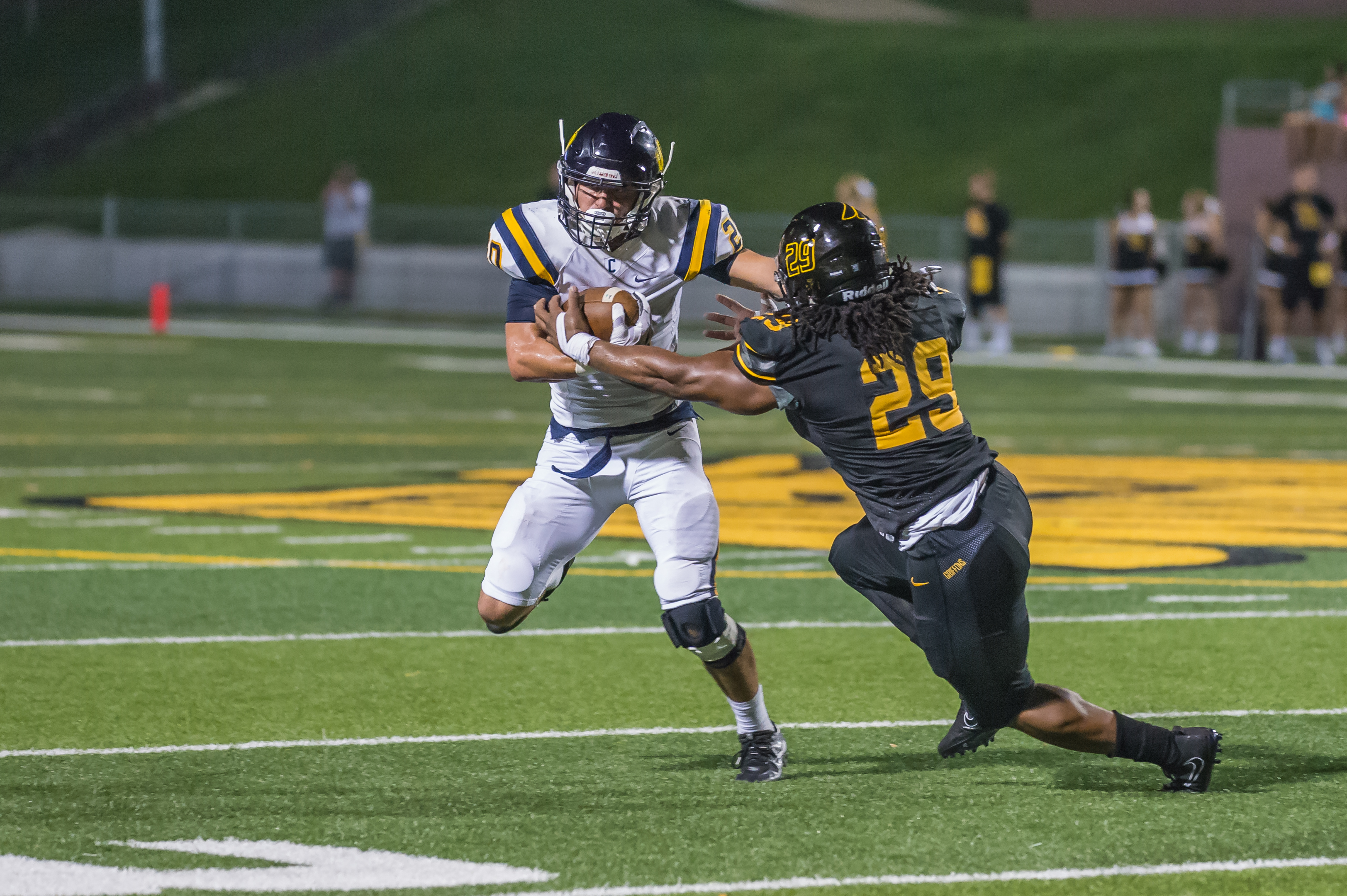 Griffons Fly Past Bronchos