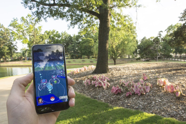Several Pokestops and Pokemon appear on the map of Will Rogers park in the popular new mobile game, Pokemon Go. Players of this new game flock to the park by the hundreds in order to search for rare Pokemon. Photo by Ryan Naeve / The Vista.